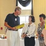 Rotarians help two reach goal Tuesday