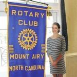 Rotary receives Budbreak check, hears of exchange program