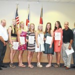 Lady Knights Softball recognized by commissioners