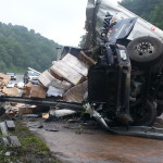 Truck crash on I-77 claims life, causes delays