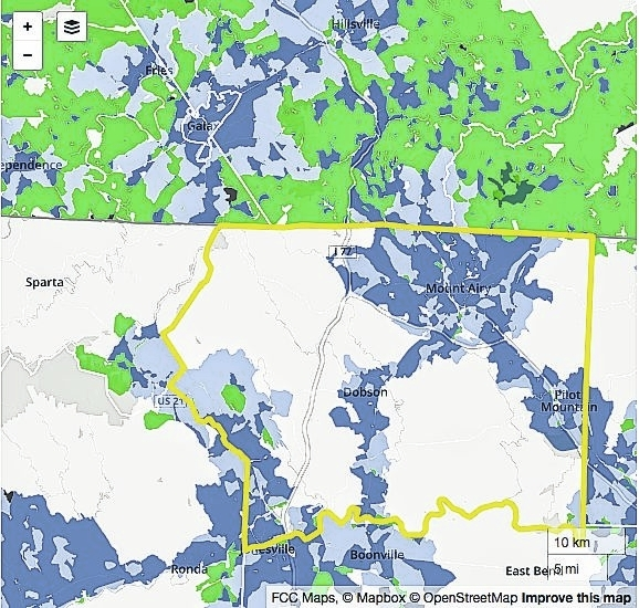 Mt Airy News High Speed Internet Help Not For Surry County - Us internet speed map