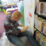 Central art students spruce up library